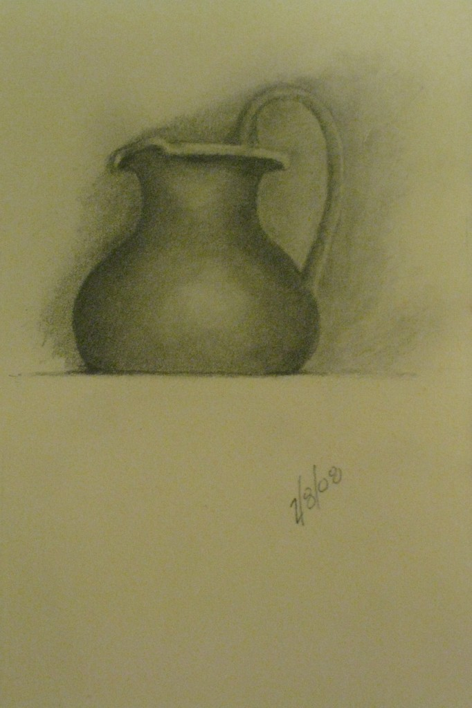 Turkish terra cotta pitcher - pencil in Moleskine sketchbook
