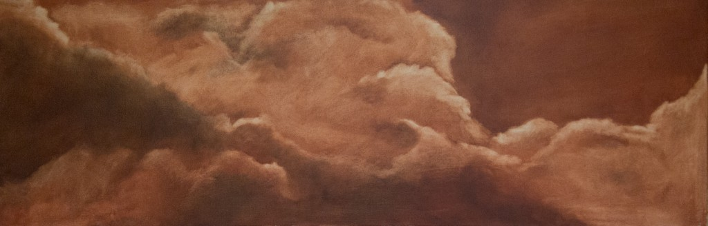 in the clouds - burnt sienna underpainting