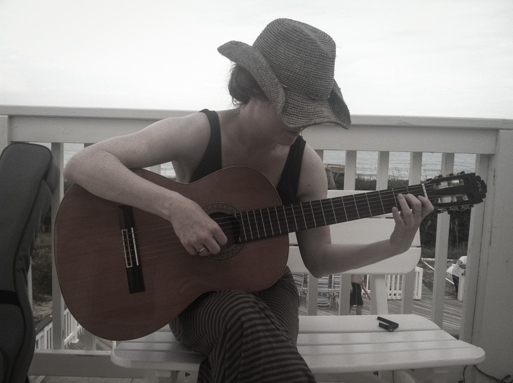 beach guitar | onbecominganartist.com