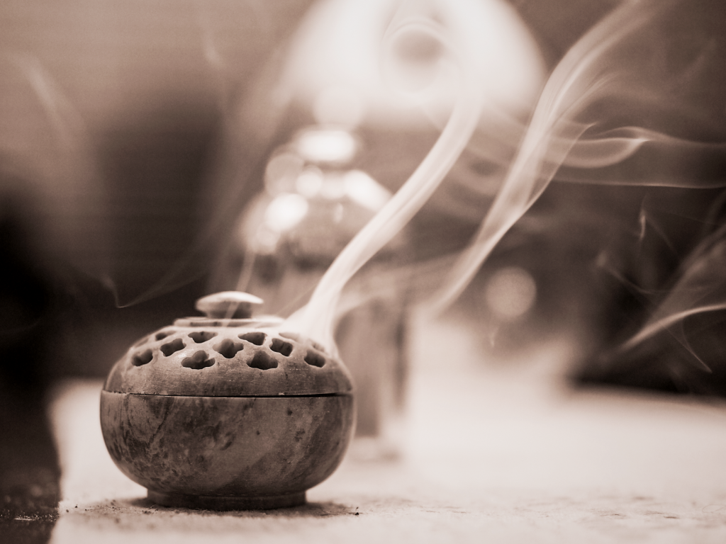 still life with incense